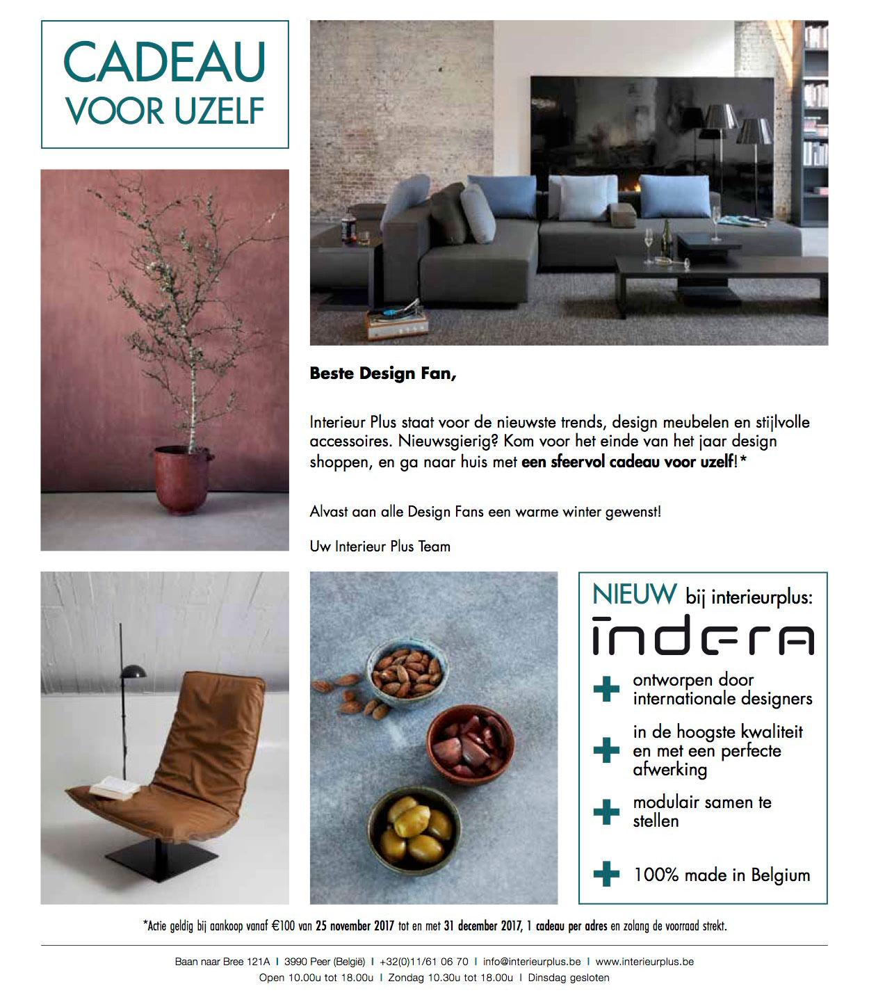 Cadeau voor uzelf!   Design meubelen Interieur Plus