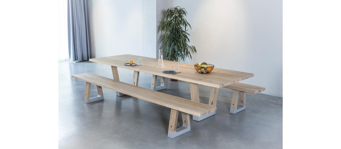 arco base tafel lokaal hout