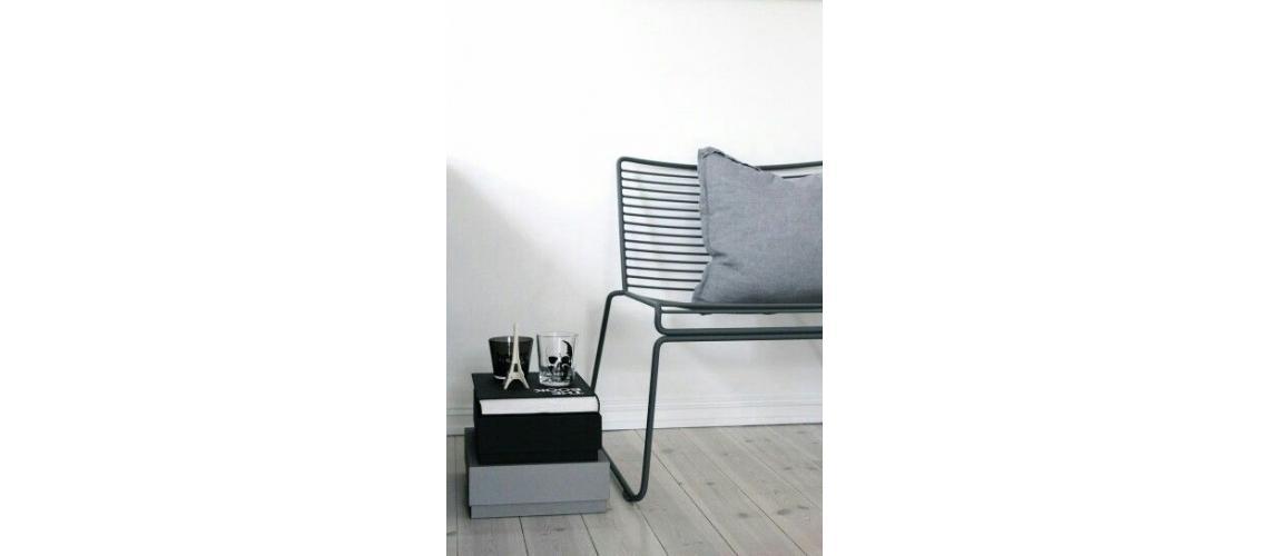 Hee lounge chair black metal fauteuil - Hay