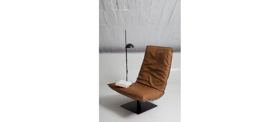 LeSac Indera fauteuil cognac leder